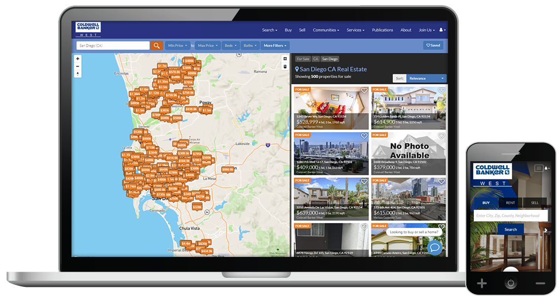 SaleCORE Real Estate Marketing Solution for California Regional MLS CRMLS REALTORS®