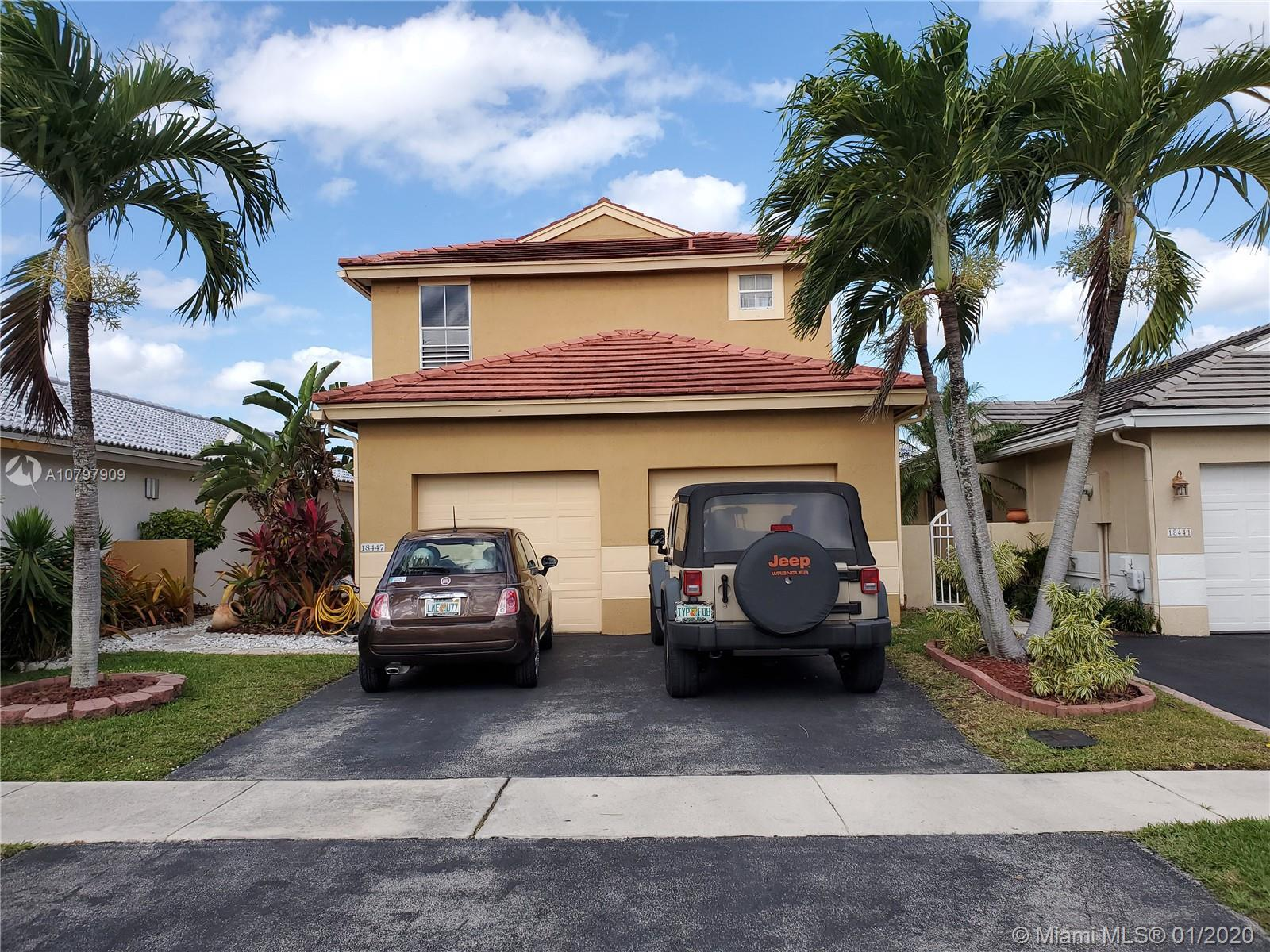 18447 NW 21st St Pembroke Pines, FL 33029         $369,900