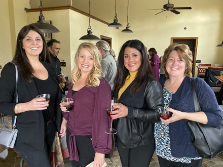 Celebrating Years of Service at Wine & Cheese event