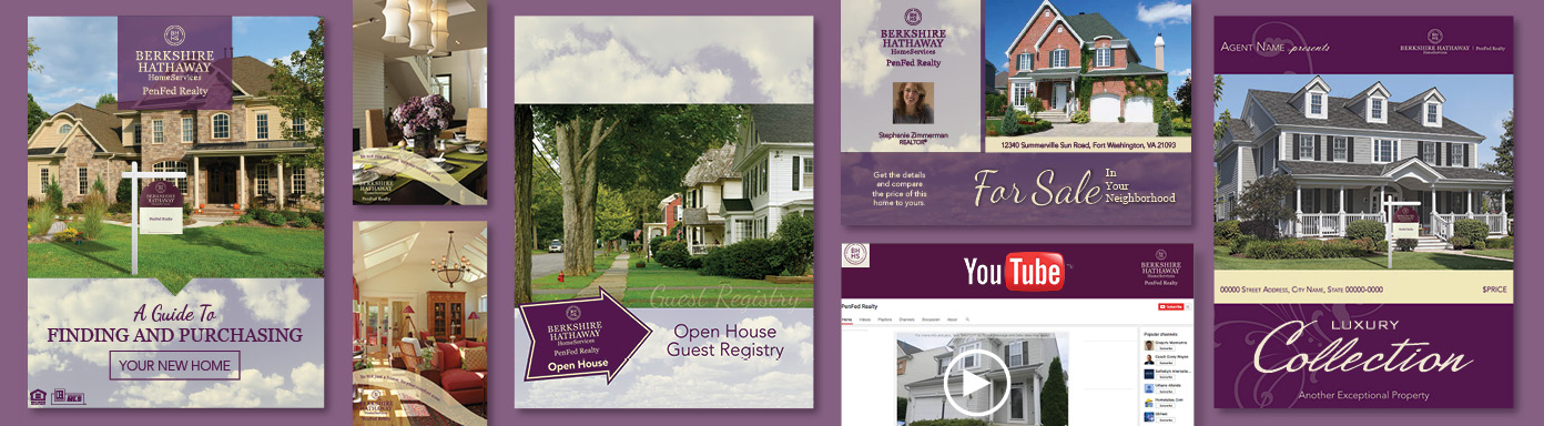 Berkshire Hathaway Home Services PenFed Realty example regional marketing layout