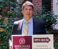 Randy Haufe and Open House Sign