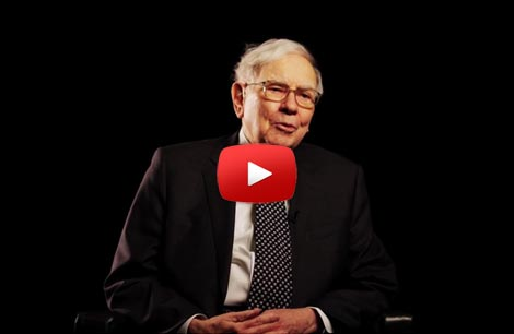 Still frame of YouTube video with Warren Buffett