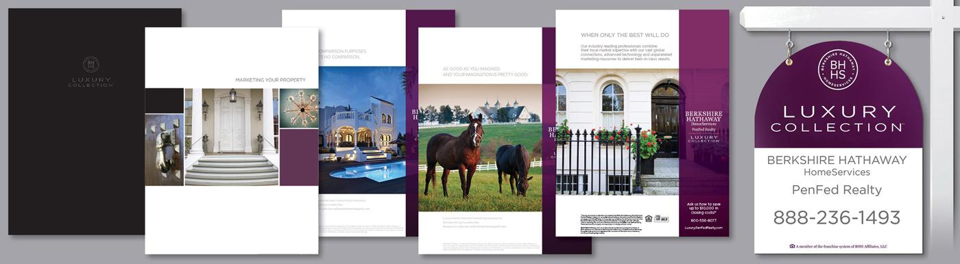 luxury marketing materials