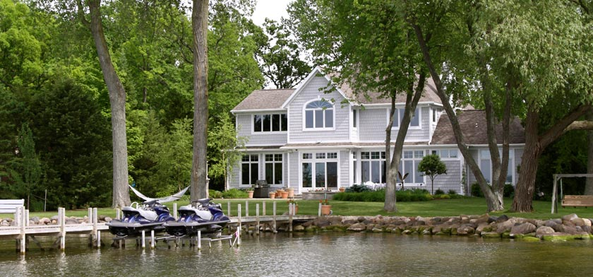 home by the water