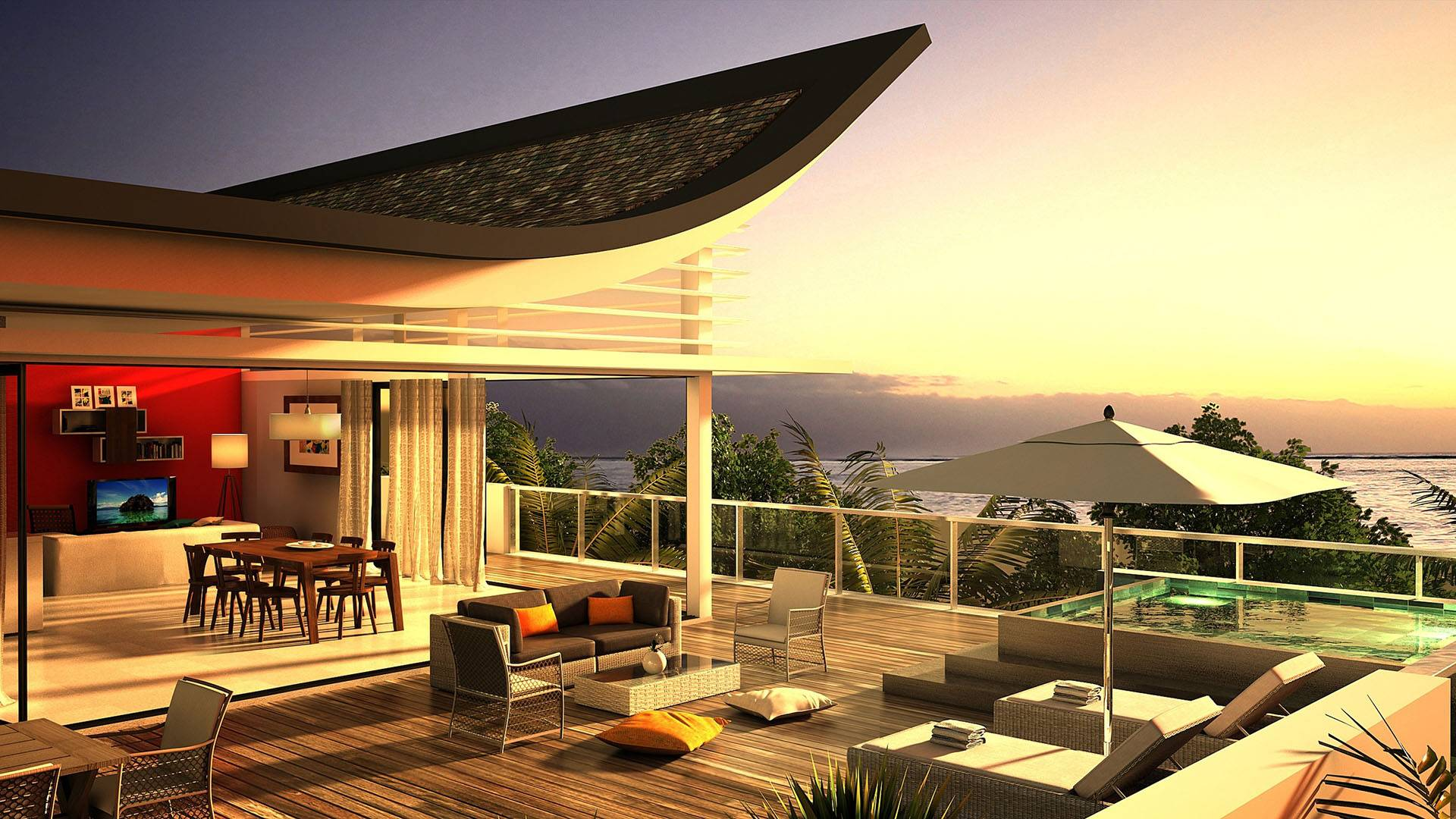 View over the lake www LuxuryWallpapers net