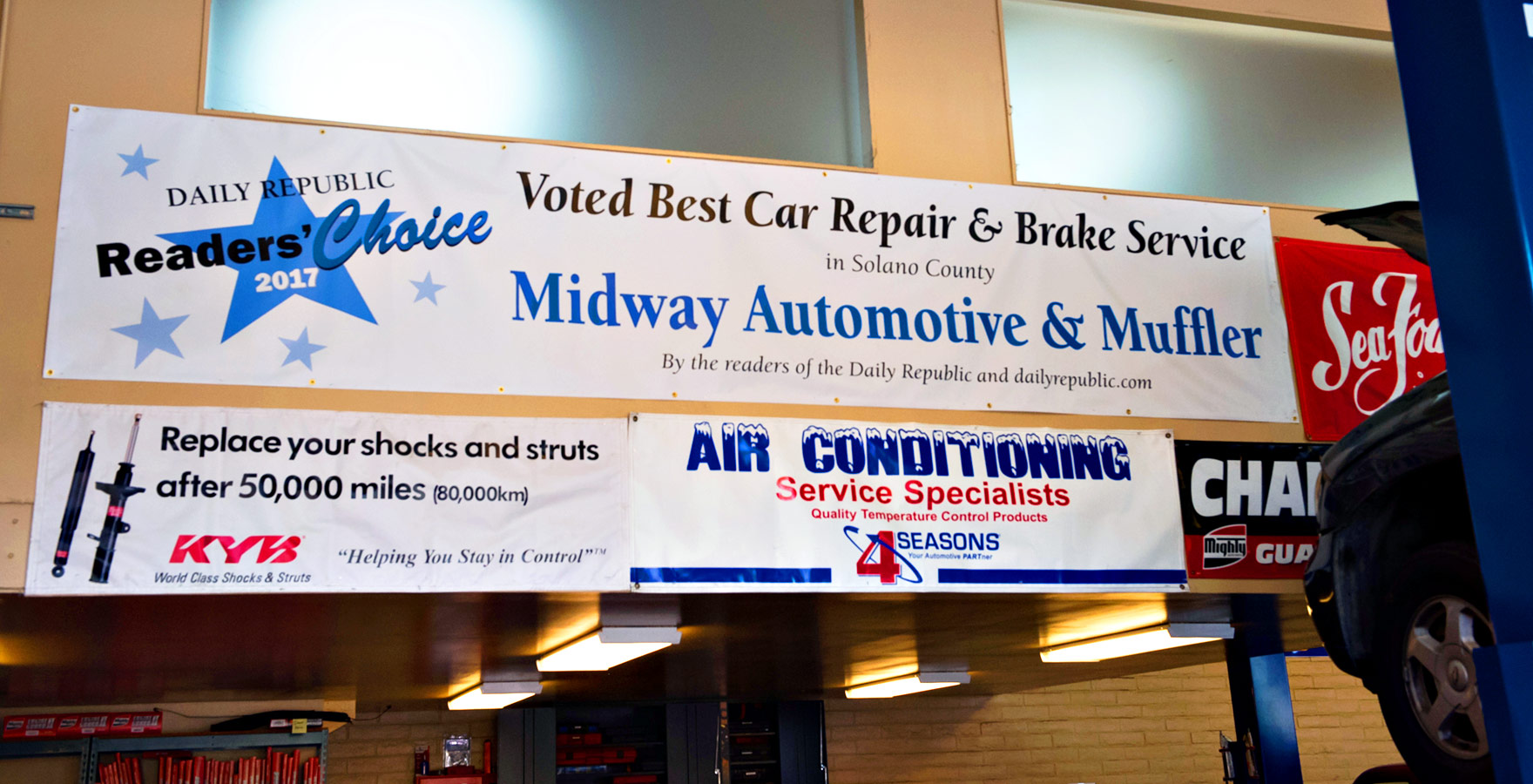 midway auto award banners