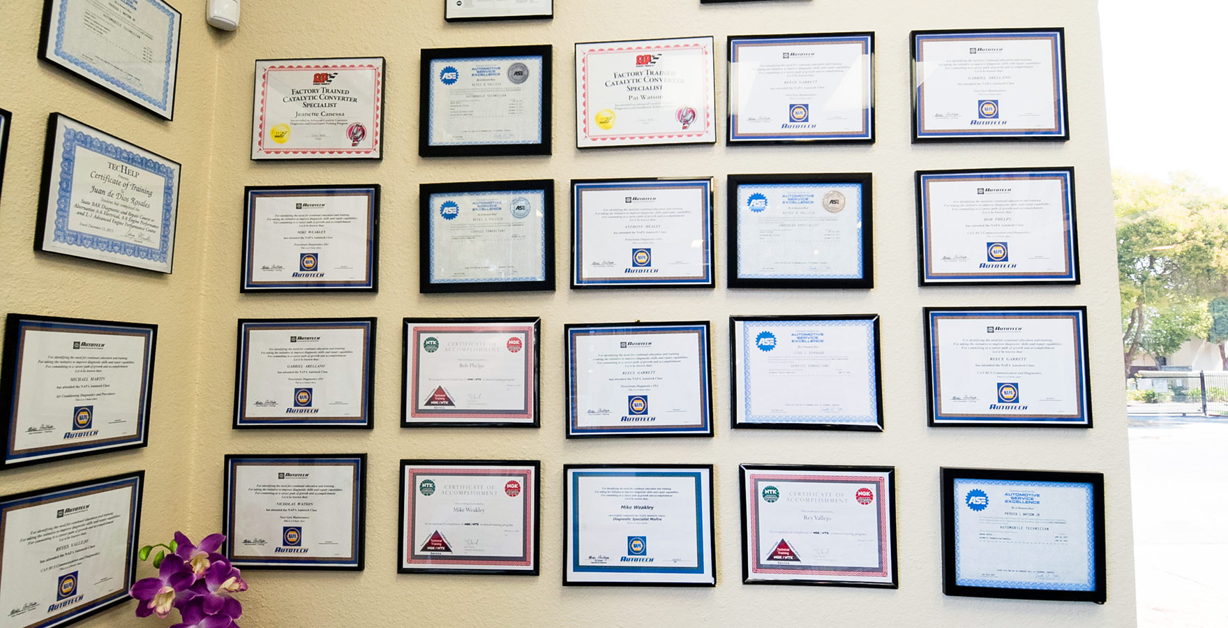 midway auto shop certifications