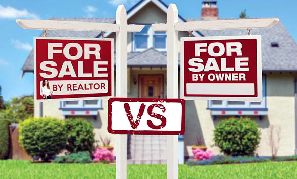 Concept of selling your home with a REALTOR® versus For Sale by Owner