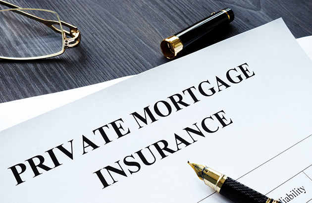 Private mortgage insurance paper form on desk