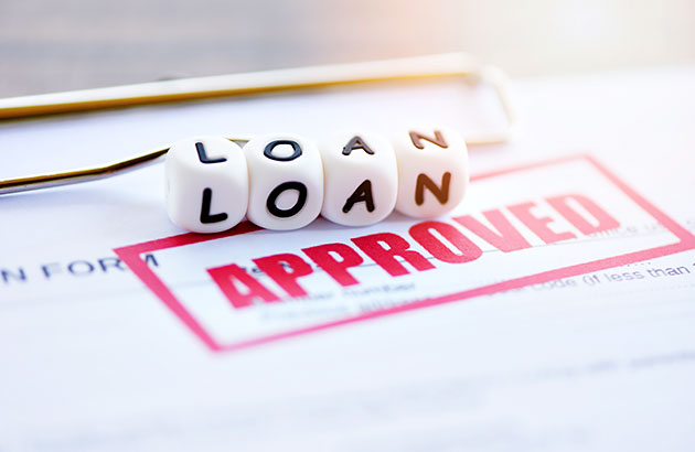An approved loan application