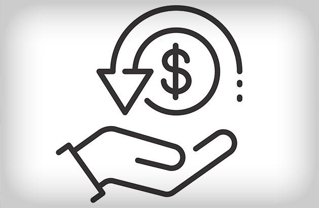 Symbolic illustration of money coming back to you