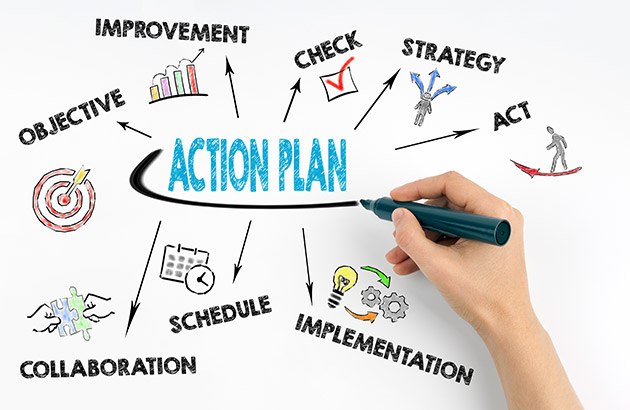 An illustration of an action plan