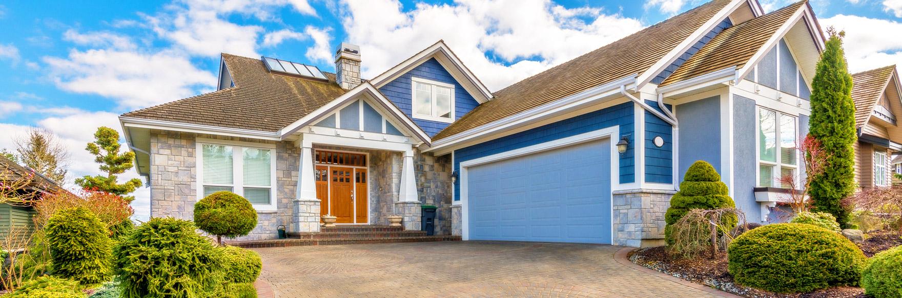 sv blue house exterior